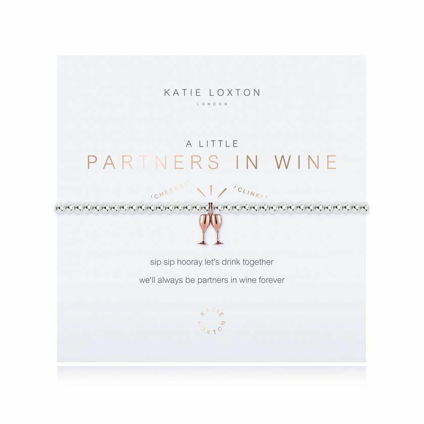 a little Partners in Wine bracelet