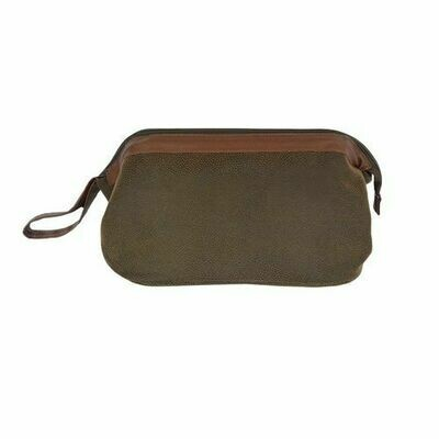 Dark Brown Large Toiletries Case