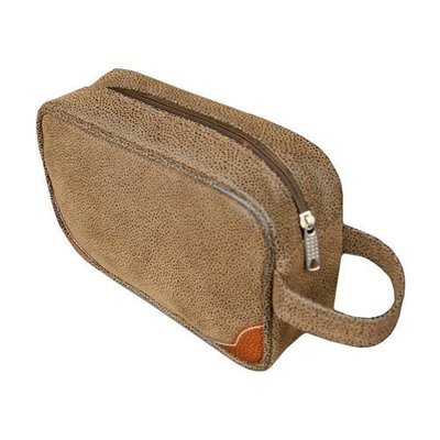 Dark Brown Toiletries Case/Dopp Kit
