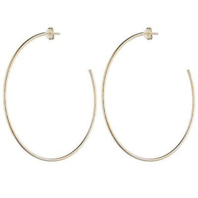 Brushed Gold Jillian Hoop Earrings