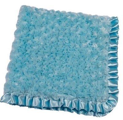 Turquoise Swirlz Fur Blanket