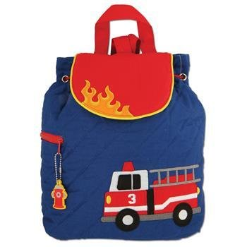 Fire Truck Quilted Backpack