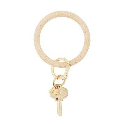 Gold Confetti Silicone Key Ring