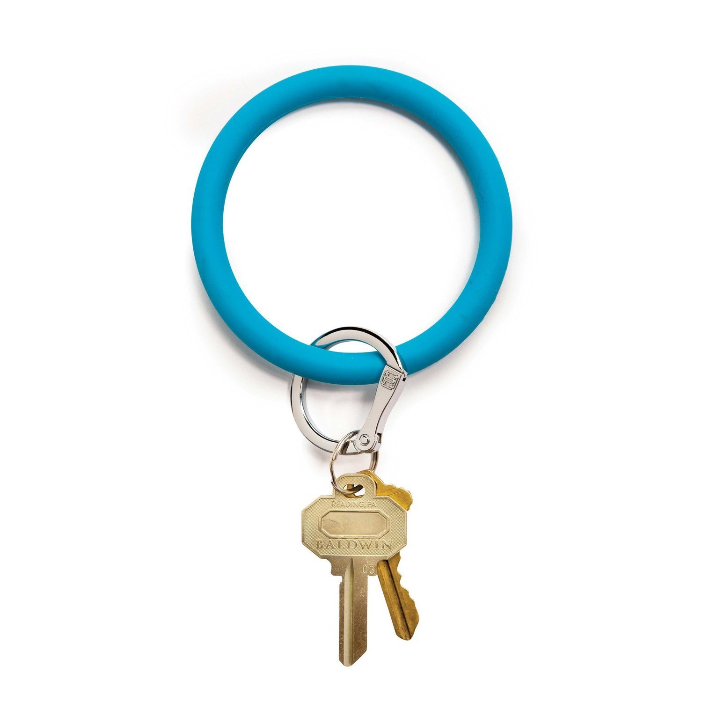 Turquoise Silicone Key Ring