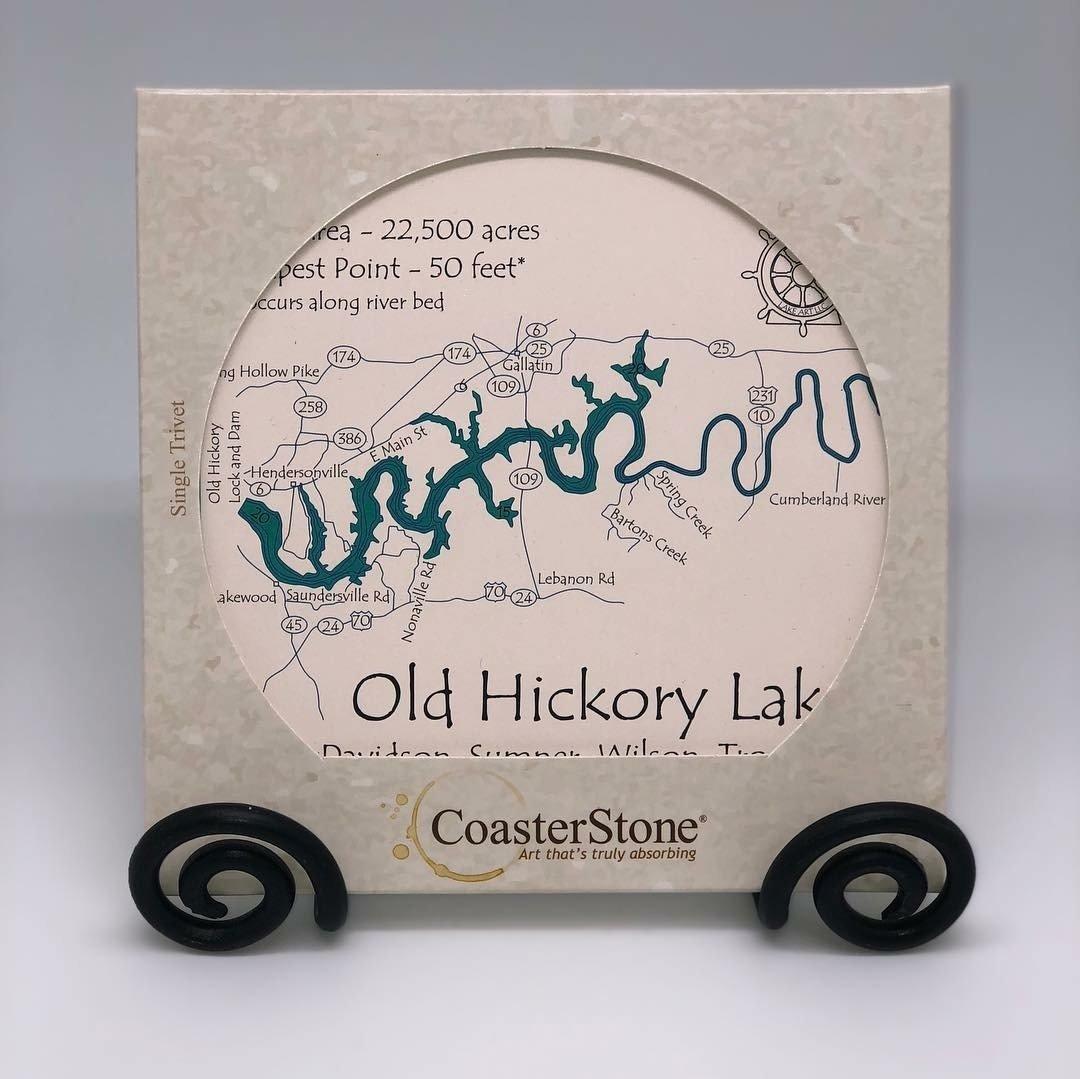 Old Hickory Lake Coaster Stone