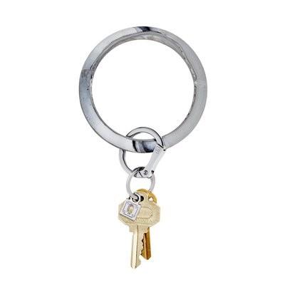 Grey Marble Silicone Key Ring