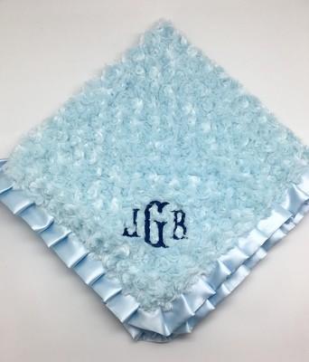 Light Blue Swirlz Fur Blanket
