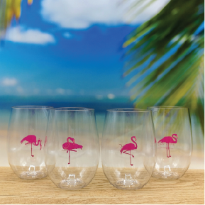 Flamingos Wine-Oh Goblets