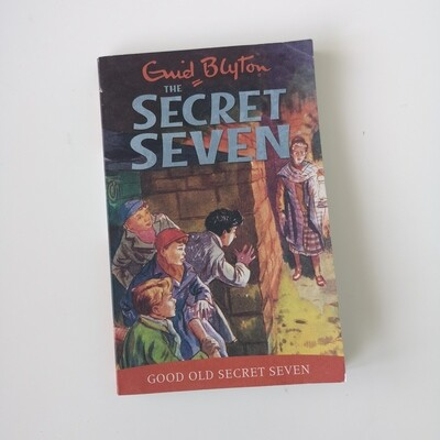Secret Seven by Enid Blyton made from a paperback book