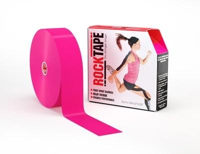 Кинезиотейп RockTape, розовый (5см×32м)