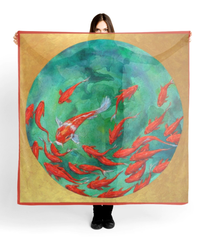 Goldfish Bowl scarf