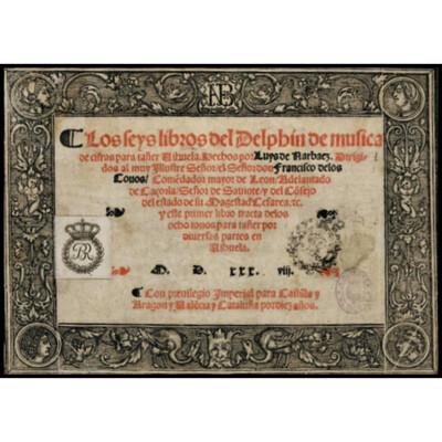 «Los seys libros del Delphin», Luys de Narvaez. Edición y estudio de las fuentes: Juan M. Nieto. Introducción: John Griffiths.