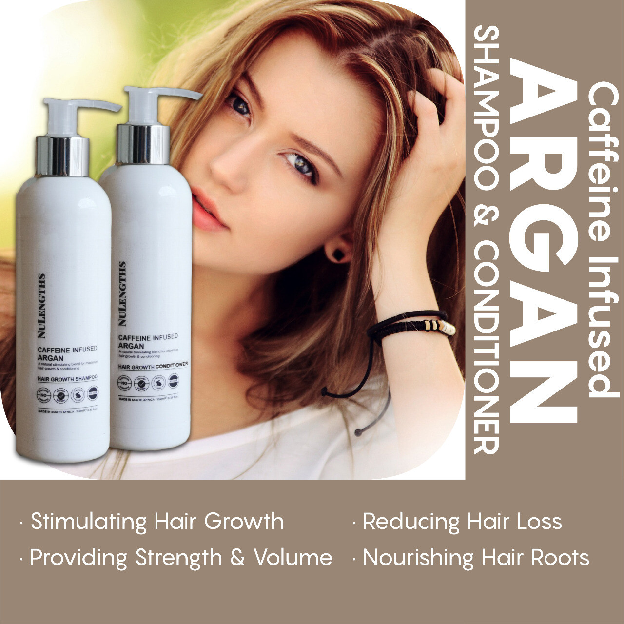 Caffeine Infused Argan Hair Growth Shampoo & Conditioner Combo
