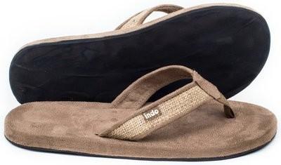 Indosole Men's Tan Burlap Sandal