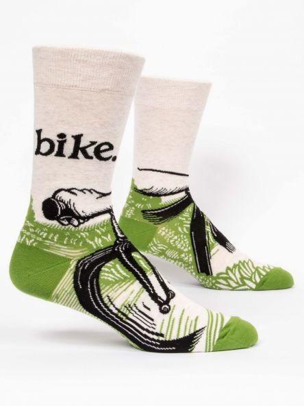 Blue Q M Crew Socks bike