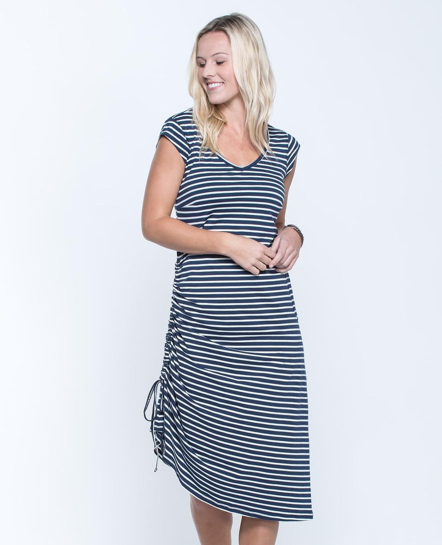 T&C Muse Dress Navy Stripe