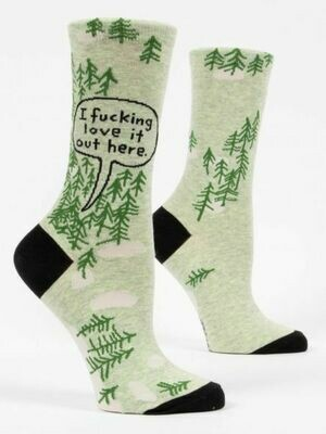 Blue Q Women's Effing Love It Out Here Crew Socks