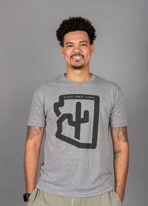 State Forty-Eight Tri-Blend Cactus Grey a& Black