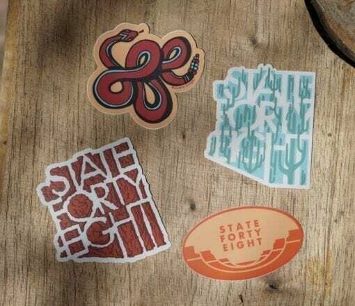 State Forty-Eight Snake Sticker Pack