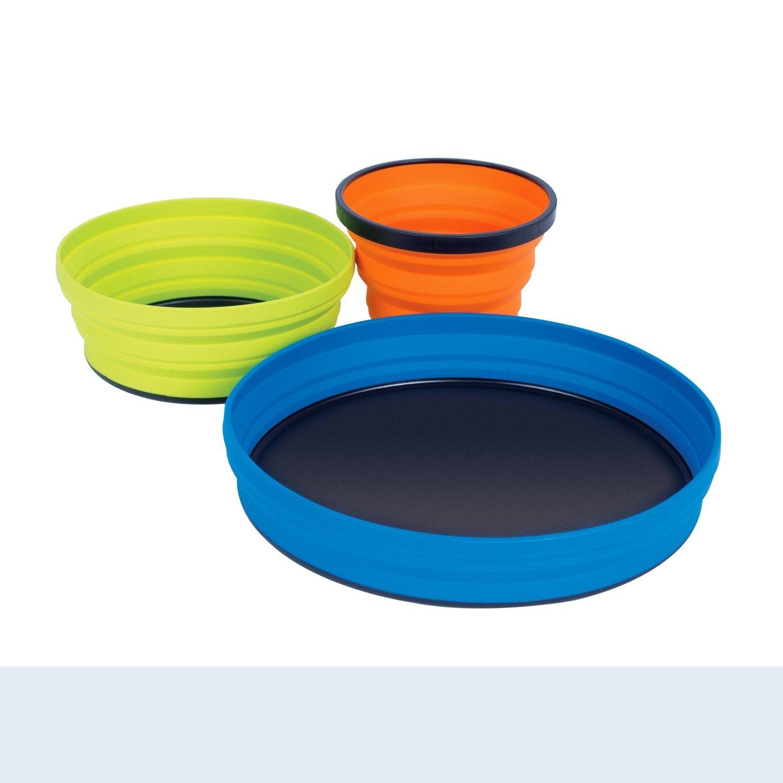Sea to Summit X-Set 3 Piece: X-Plate, X-Bowl & X-Mug with X-Pouch