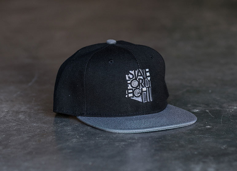 State Forty-Eight Snapback Classic | Black & Grey