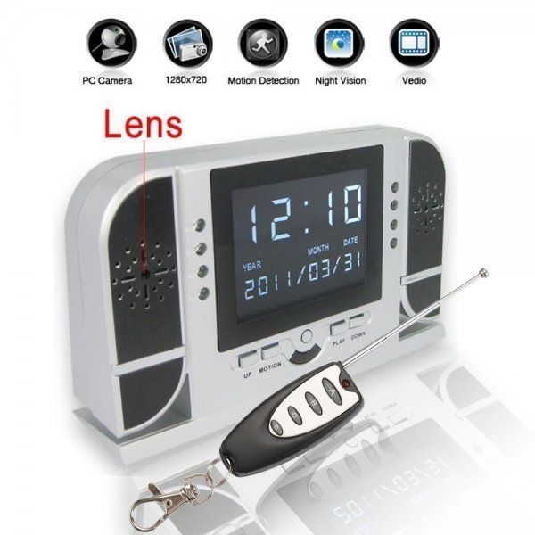 720P HD Hidden Night Vision Camera Spy Clock with Playback Fuction