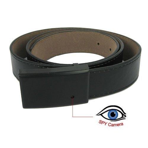 Black Leather Belt Style Spy Camera Support 16G