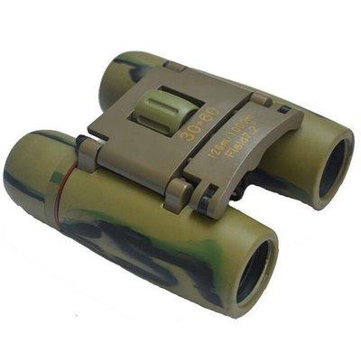 Sakura 30*60 Mini Fold Camouflage Binoculars Telescope Blue Film