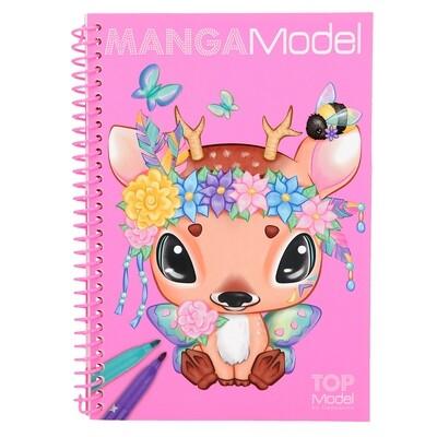 TOPModel Manga Альбом для раскрашивания Манга