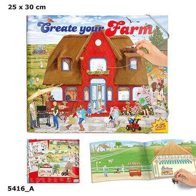 Creative Studio Альбом с наклейками Создай Ферму