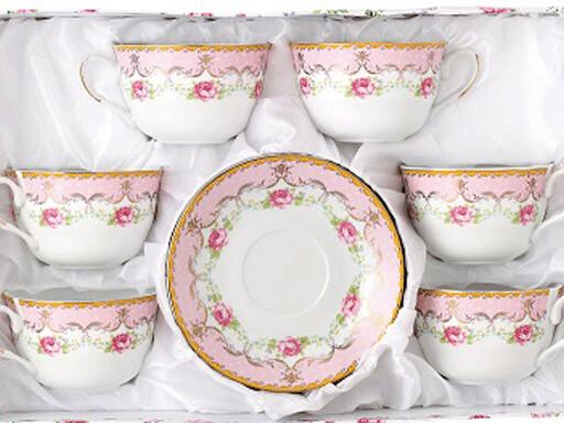Набор чайный 12 предметов в подарочной коробке 742-003