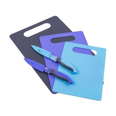 Набор разделочных досок с ножами 5 предметов 803-281