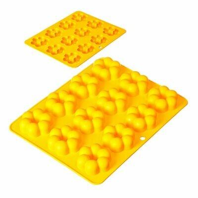 Форма силиконовая Цветы 12 ячеек Vetta 891-106