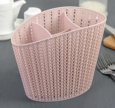 Подставка для столовых приборов Вязание Чайная роза