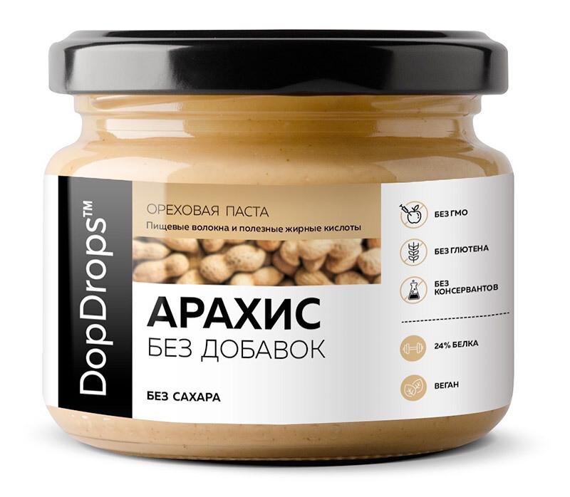 Арахисовая паста Без добавок DopDrops