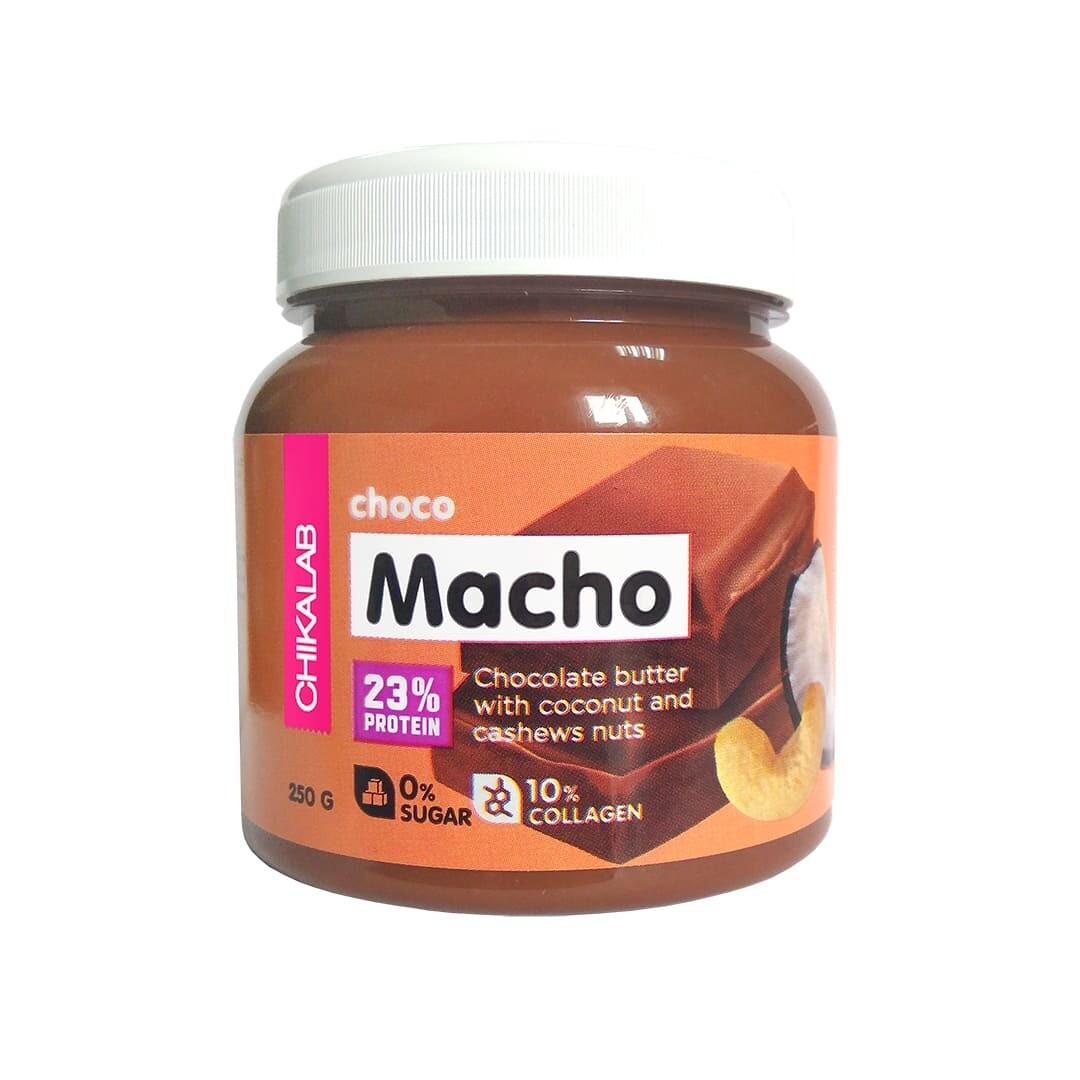 Choco Macho Шоколадная паста с кокосом и кешью Chikalab