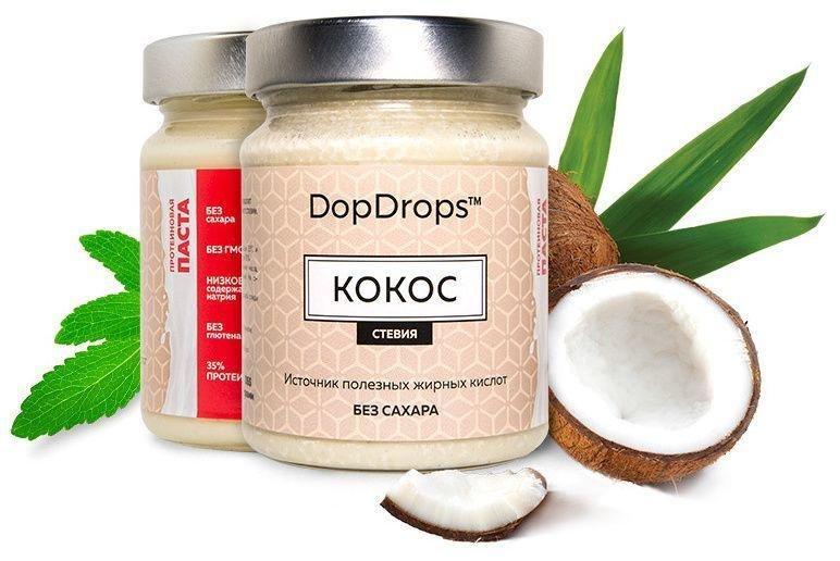 Кокосовая паста (протеиновая) DopDrops