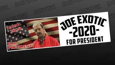 Joe Exotic For President Bumper Sticker