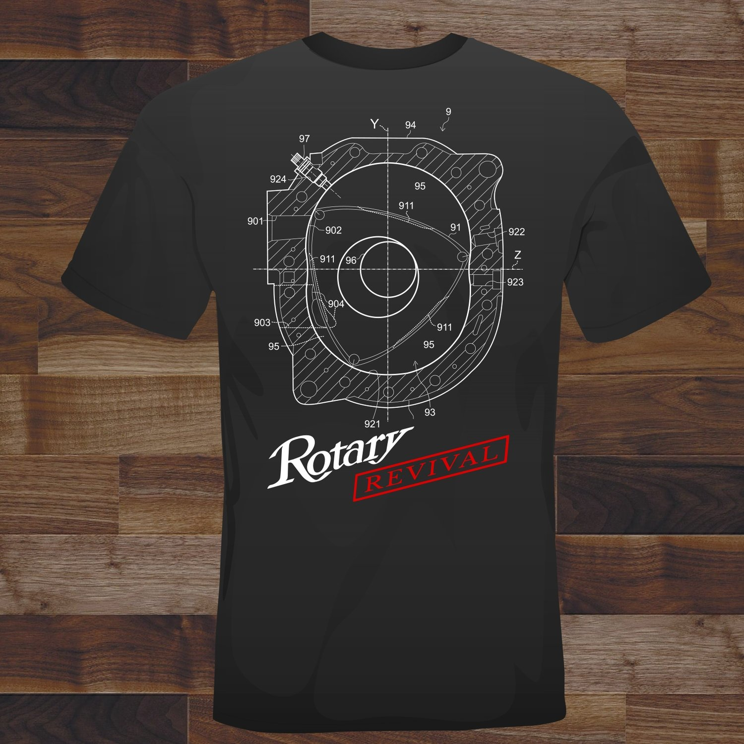 2018 Rotary Revival Blueprint T-Shirt