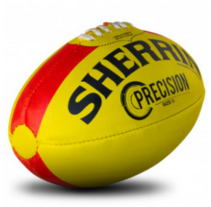 Sherrin Precision Synthetic Football Size 4 - Yellow