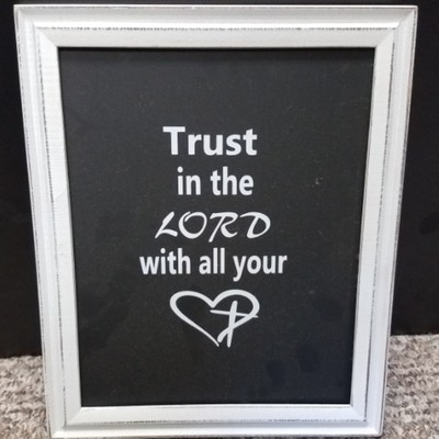 Trust in the Lord with all Your Heart Wall Decor