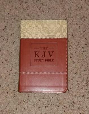 KJV Study Bible - Handy Size - Brown Leather