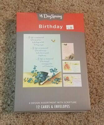 Dayspring Victorian Birthday Themed Box Cards