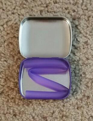 Silicone Reusable Straws - Purple