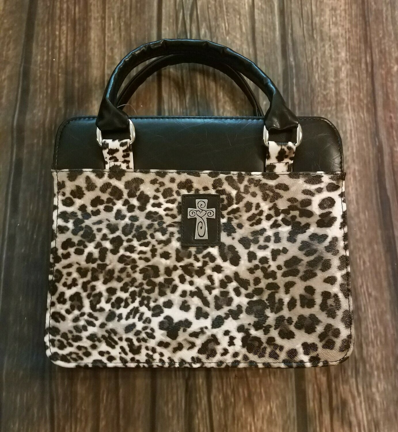 Leopard Print Purse-Style Bible Cover