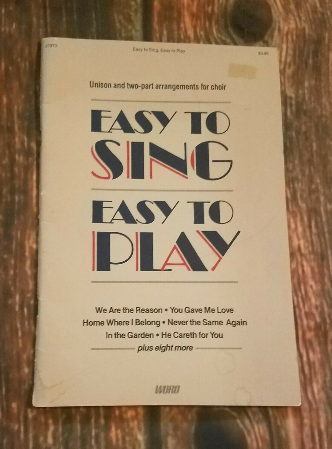 Easy to Sing, Easy to Play Hymnal Songs by Word Music