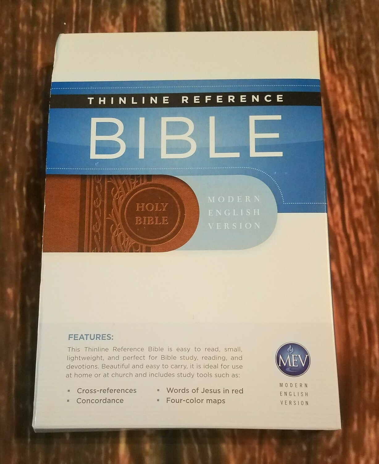 MEV Thinline Reference Bible - Imitation Leather - Brown