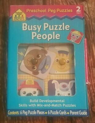Busy Puzzle People: Preschool Peg Puzzles