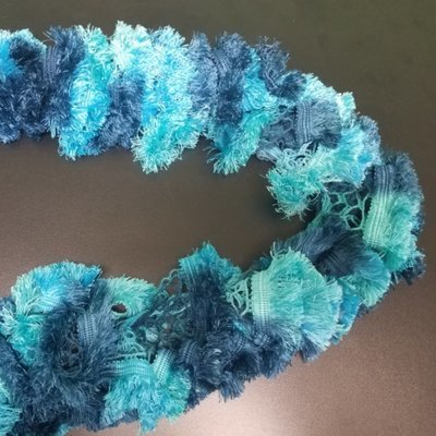 Blue Colored Ruffle Scarf