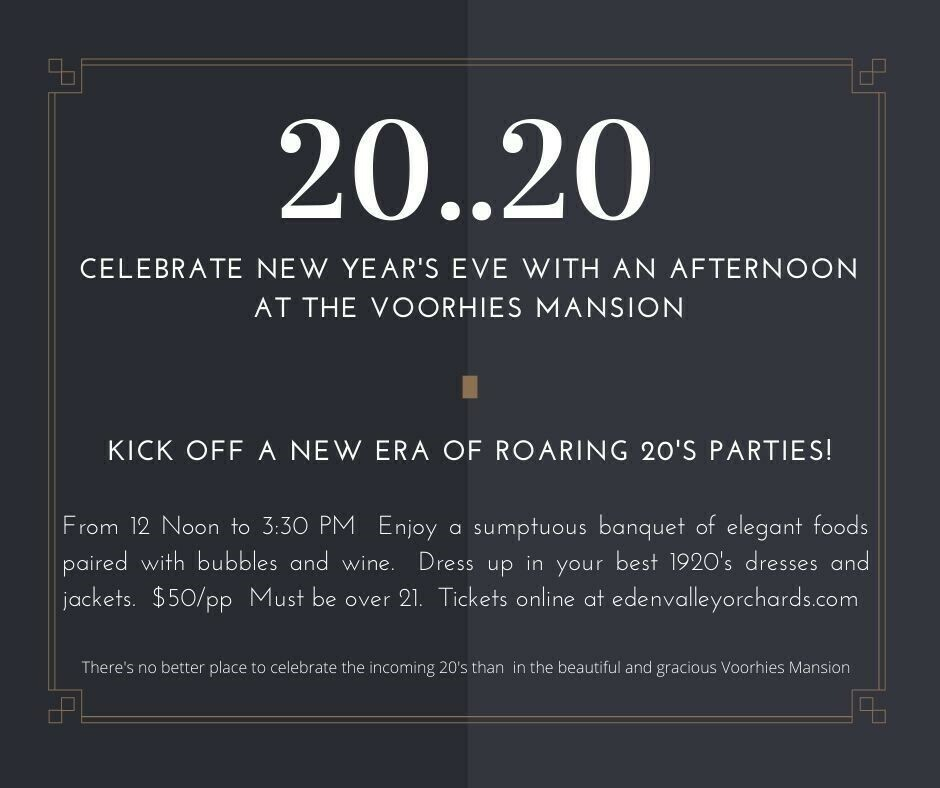 New Year's Eve 2020 Afternoon Champagne Soiree'